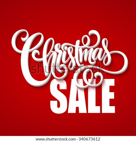 Christmas sale design template. Vector illustration EPS10 - stock vector