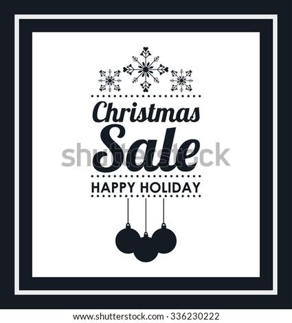 christmas sale design, vector illustration eps10 graphic  - stock vector