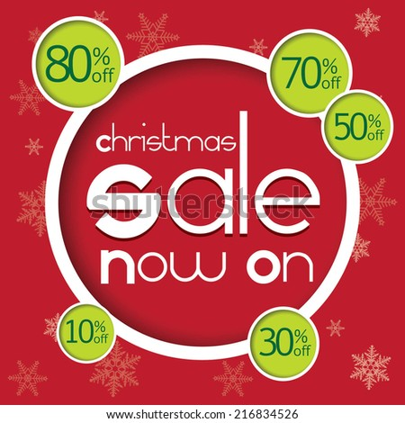 christmas sale now on with 10 30 50 70 80 percent discount