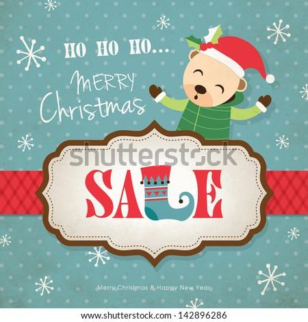 Christmas Sale Poster - stock vector