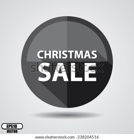 Christmas sale stickers, label, tag, and icon set on black circle shiny on white background - Vector illustration. - stock vector