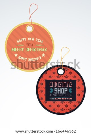 Christmas Sale, Tag, Label Vector Design Collections