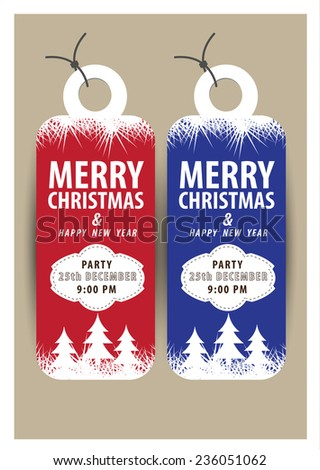 Christmas sale tags. vector - stock vector