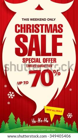 Christmas sale. Vector banner - stock vector