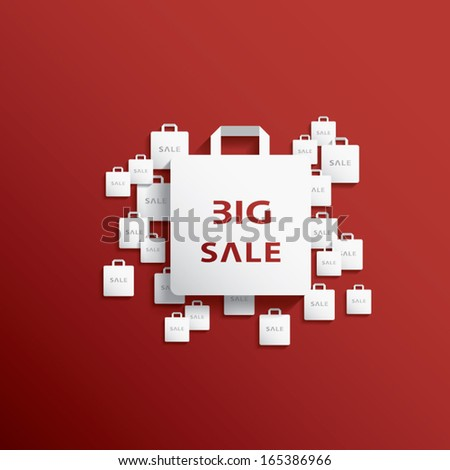 Christmas sales vector illustration suitable for advertising or as a web element, etc. - stock vector