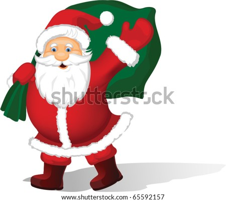 Christmas Santa Claus background - stock vector