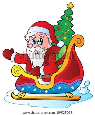 Christmas Santa Claus 6 - vector illustration. - stock vector