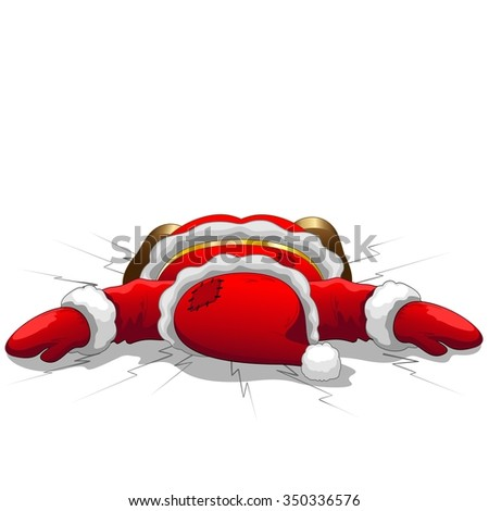 Christmas Santa is Dead - stock vector