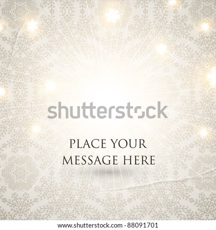 Christmas seamless background, old paper texture - stock vector