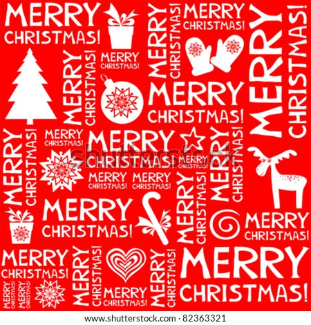 christmas seamless background pattern in vector - stock vector