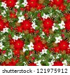 Christmas seamless background. Vector illustration. - stock photo