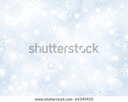 Christmas seamless background with glitter white snowflakes - vector background for continuous replicate. - stock vector