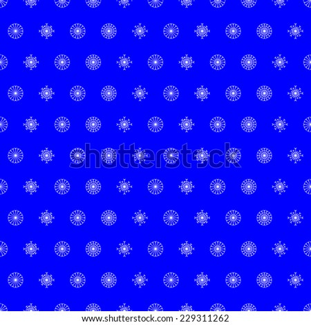 Christmas seamless background with snowflakes. For holiday decoration, wrapping paper, wallpaper, gift boxes, other packing elements - stock vector