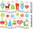 Christmas seamless pattern vector illustration - stock vector
