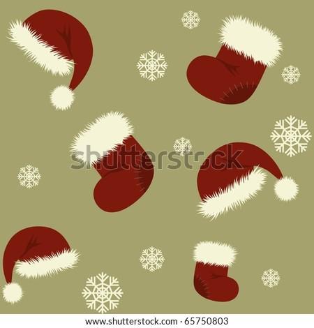 Christmas seamless pattern. Vector wallpaper - stock vector