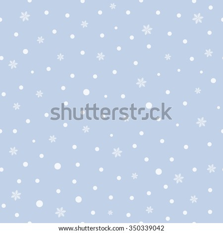 Christmas seamless pattern with snowflakes on a blue background. Vector  illustration - stock vector