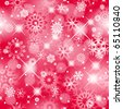 Christmas seamless red background with sparkling white snowflakes - vector background for continuous replicate. - stock vector