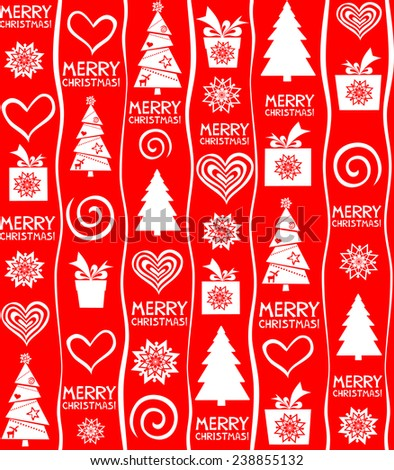 Christmas seamless texture. Vector Illustration - stock vector