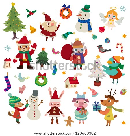 Christmas season theme - stock vector