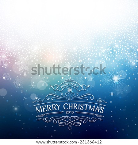 Christmas shiny background. File grouped and layered - stock vector