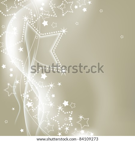 Christmas silver lights vector background - stock vector