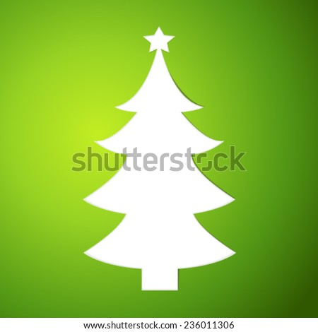Christmas - simple  vector  - stock vector