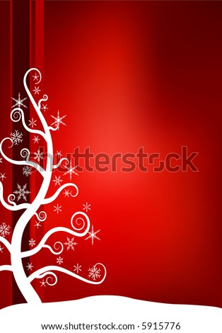 Christmas Snow Tree - stock vector