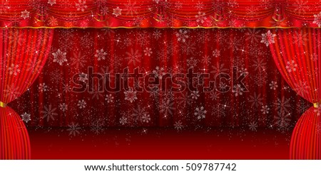 Christmas snow winter background