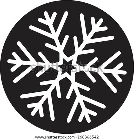 Christmas snowflake - stock vector