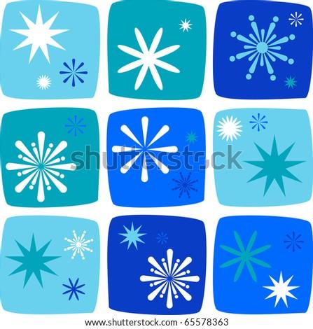 Christmas snowflake patterns - stock vector