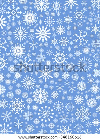 Christmas snowflake seamless pattern background - stock vector