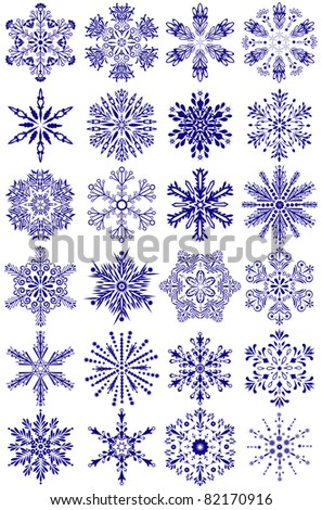 Christmas snowflakes, element for design. Vector illustration - stock vector