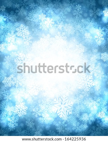 Christmas snowflakes light background. Vector illustration Eps 10. Greeting card or invitation.  - stock vector