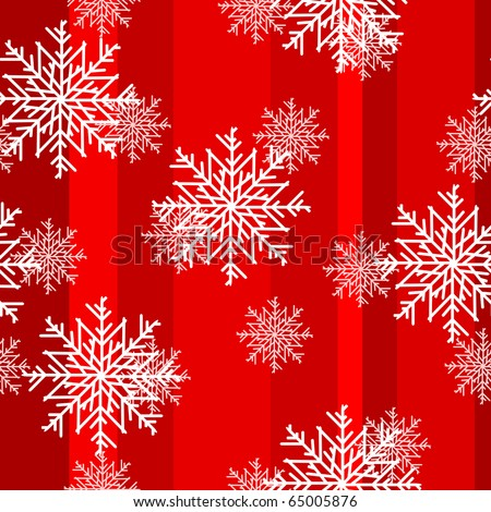 Christmas snowflakes seamless background - stock vector