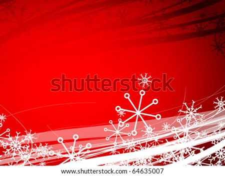 Christmas snowflakes vector background - stock vector