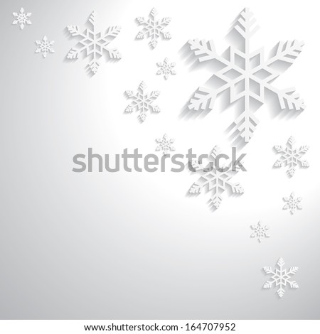 Christmas snowflakes vector paper 3d