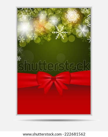 Christmas Snowflakes Website Banner and Card Background Vector Illustration EPS10 - stock vector