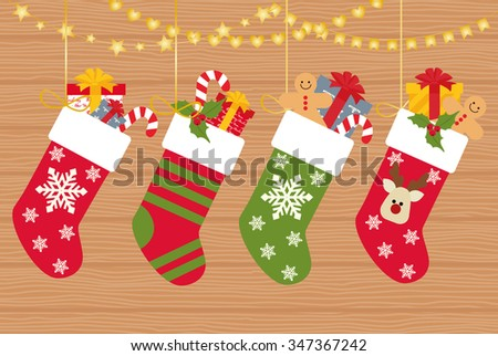 Christmas socks with gifts
