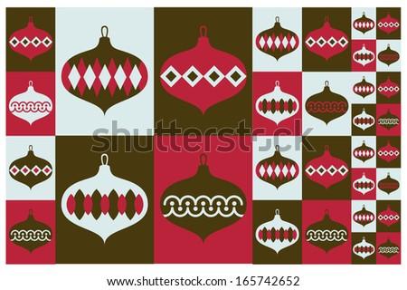 Christmas sphere pattern design - stock vector