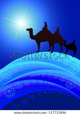 Christmas star - stock vector