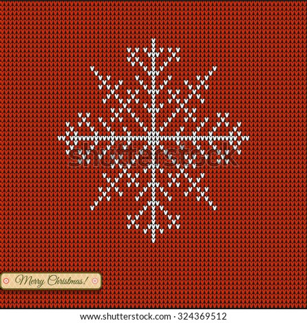 Scandinavian Knitting Patterns : Set Christmas Star Snowflake Merry Christmas Stock Vector 324794123 - Shutter...