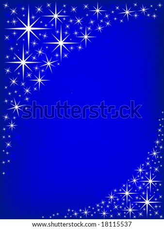 Christmas Star Border - stock vector