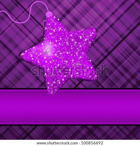 Christmas stars on purple background. EPS 8 vector file included - stock vector