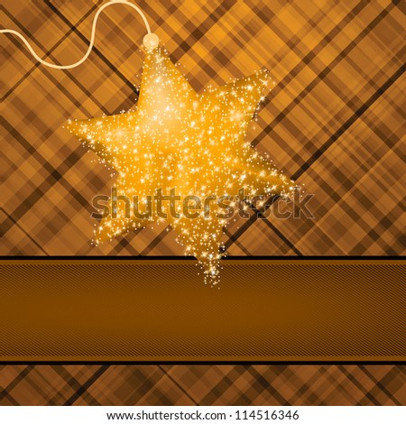Christmas stars on red background. EPS 8 vector file included - stock vector