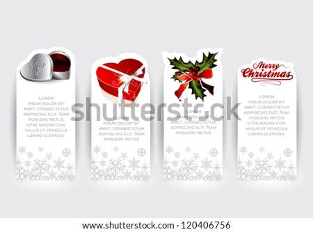 Christmas sticker concepts in editable vector format - stock vector