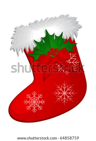 Christmas Stocking - stock vector