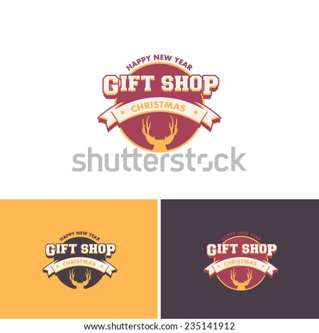 Christmas Store Vector Icons Logos Sign Symbol Template