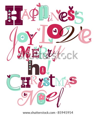 Christmas stylized typography