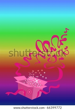 Christmas surprise - stock vector