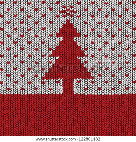 Christmas sweater background with space for Your text, vector eps10 illustration - stock vector